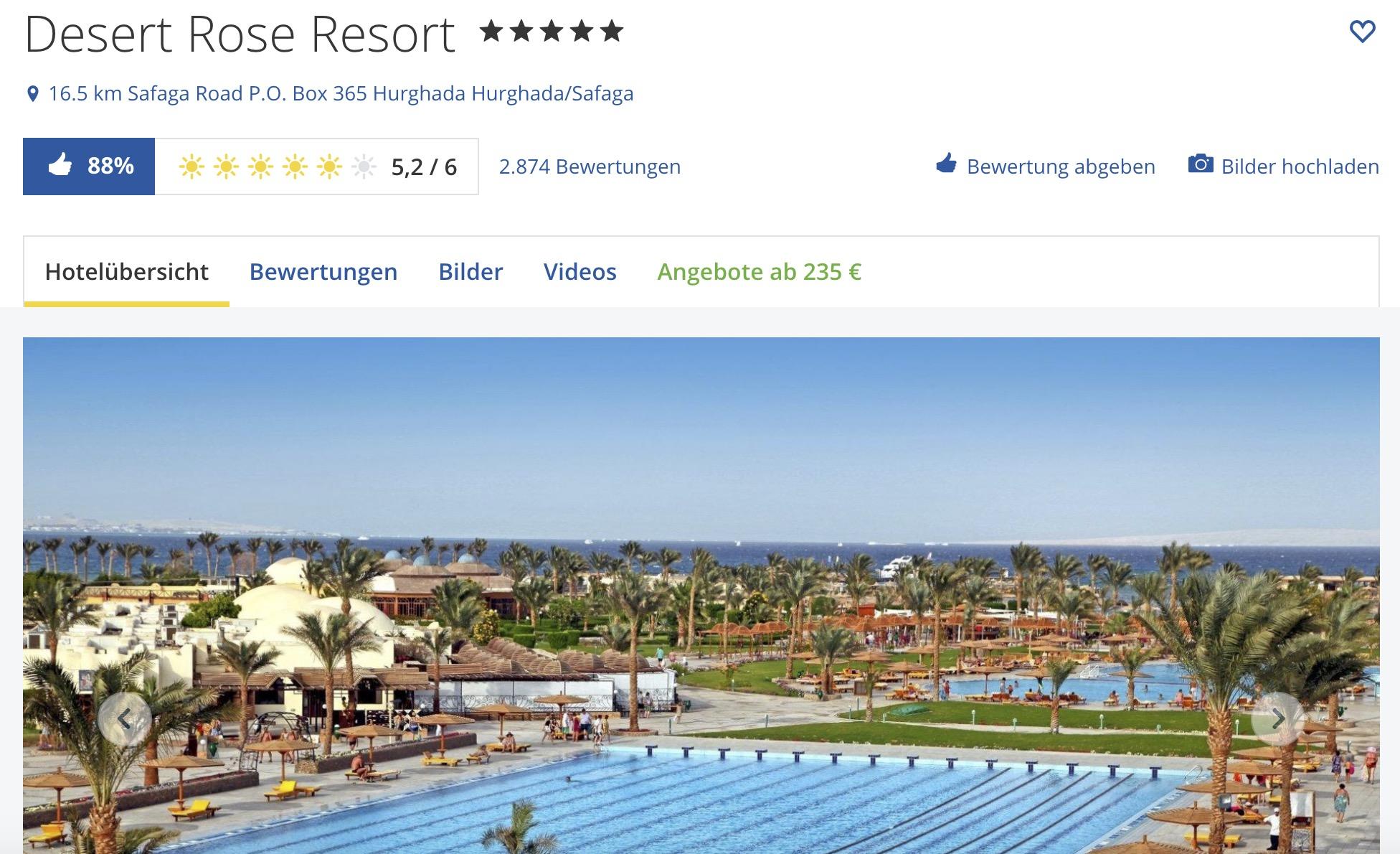 Desert Rose Hurghada Luxus Und Entspannung In Agypten Reiserodeo