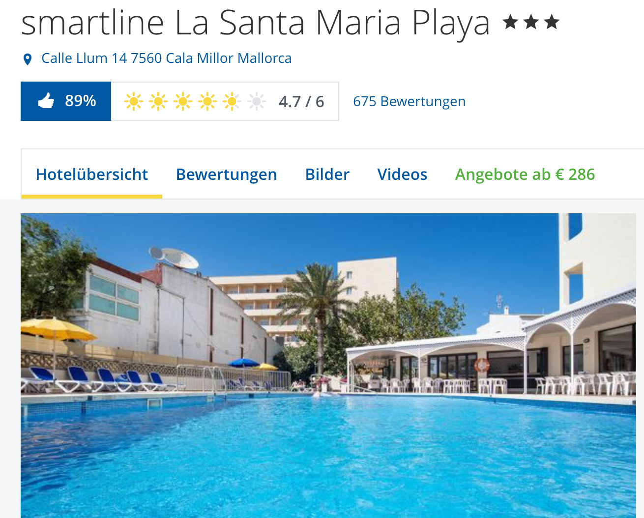 Hotel Smartline Santa Maria Playa