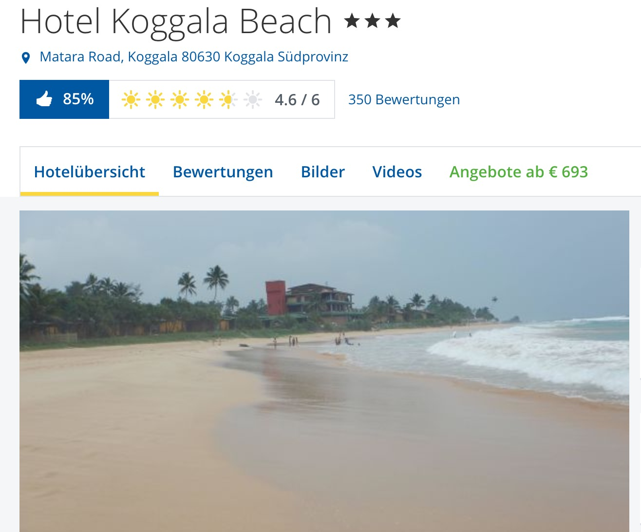hotel koggala beach auf sri lanka g nstig buchen reiserodeo. Black Bedroom Furniture Sets. Home Design Ideas